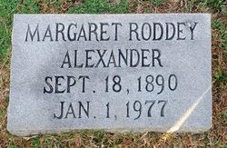 Margaret <i>Roddey</i> Alexander