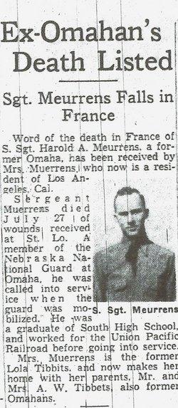 SSgt. Harold A Meurrens