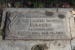 Lois Louise <i>Lowell</i> Burright