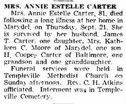 Annie Estelle Carter