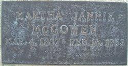 Martha Jane Janie <i>Fain</i> McGowen