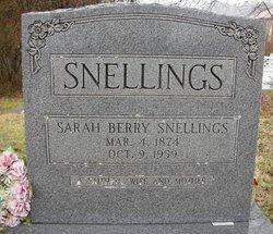 Sarah Elizabeth <i>Berry</i> Snellings