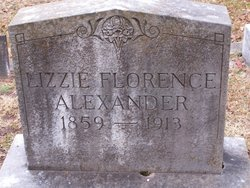 Elizabeth Florence Lizzie <i>Lumpkin</i> Alexander