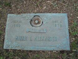 Minnie Lee <i>Oates</i> Alexander