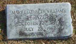 Mary Elizabeth <i>Williams</i> Frazer