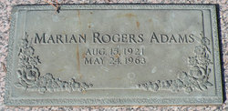 Marian <i>Rogers</i> Adams