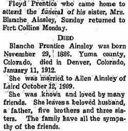 Blanche <i>Prentice</i> Ainsley