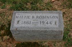 Martha B. Mattie <i>Mann</i> Robinson