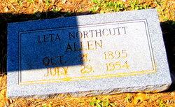 Leta Estelle <i>Northcutt</i> Allen