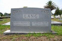 Dudley Walton Lang, Sr