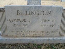 Gertrude Elizabeth Lizzie <i>Grounds</i> Billington
