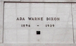 Ada <i>Warne</i> Dixon