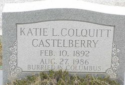 Katie L. <i>Colquitt</i> Castelberry