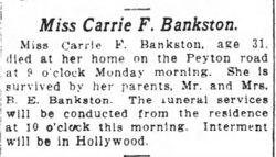 Carrie Frances Bankston