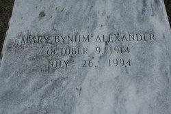 Mary <i>Bynum</i> Alexander