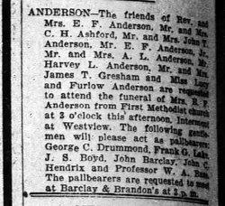 Margaret <i>Foster</i> Anderson