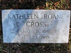 Kathleen <i>Roane</i> Cross