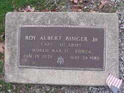 Capt Roy Albert Binger, Jr
