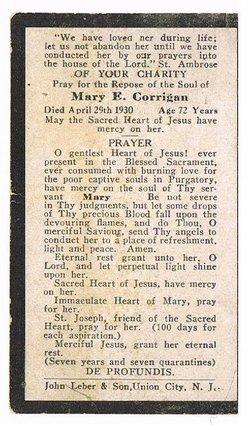 Mary E <i>Flanagan</i> Corrigan