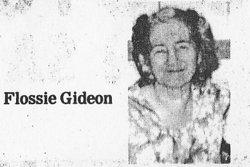 Flossie M. <i>Hurt</i> Gideon