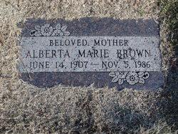 Alberta Marie Brown