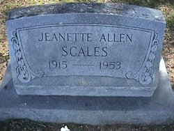Jeanette <i>Allen</i> Scales