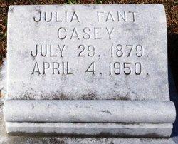 Julia A. <i>Fant</i> Casey