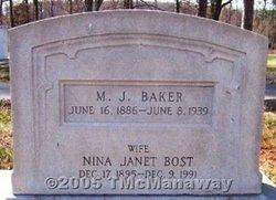 Nina Janet <i>Bost</i> Baker