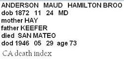 Maud H. <i>B.</i> Anderson