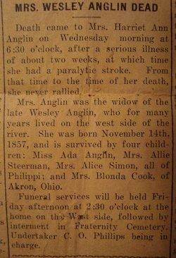 Harriet <i>Anglen</i> Anglin