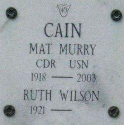 CDR Mat Murry Cain