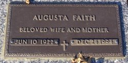 Augusta <i>Williams</i> Faith