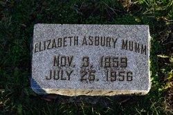 Elizabeth <i>Asbury</i> Mumm