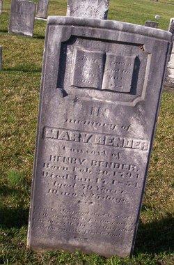 Mary <i>Etter</i> Bender