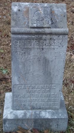 Catherine Ann <i>Hardyman</i> McDaniel