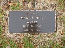 Mary S <i>Holloway</i> Watts
