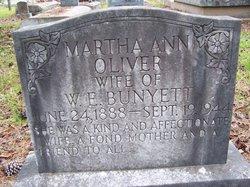 Martha Ann <i>Oliver</i> Bunyett