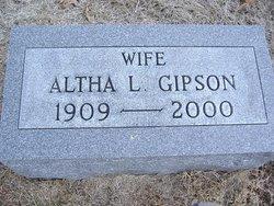 Altha Lee <i>Stone</i> Gipson