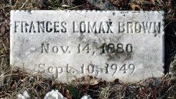 Frances <i>Lomax</i> Brown