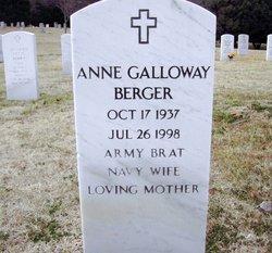 Mrs Anne <i>Galloway</i> Berger