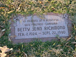 Betty Jean <i>Deatherage</i> Richmond