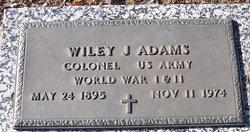 Col Wiley J Adams