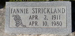 Fannie N. <i>Wildes</i> Strickland