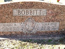 Lora May <i>Pyle</i> Bobbitt