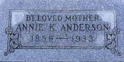 Annie K <i>Jacobsen</i> Anderson