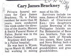 Carey James Brackney