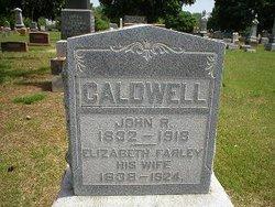 Elizabeth H <i>Farley</i> Caldwell