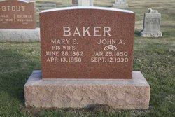 Mary E <i>Ward</i> Baker