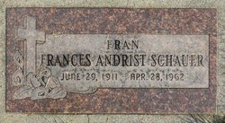 Frances Margaret <i>Andrist</i> Schauer