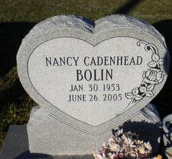 Nancy <i>Cadenhead</i> Bolin